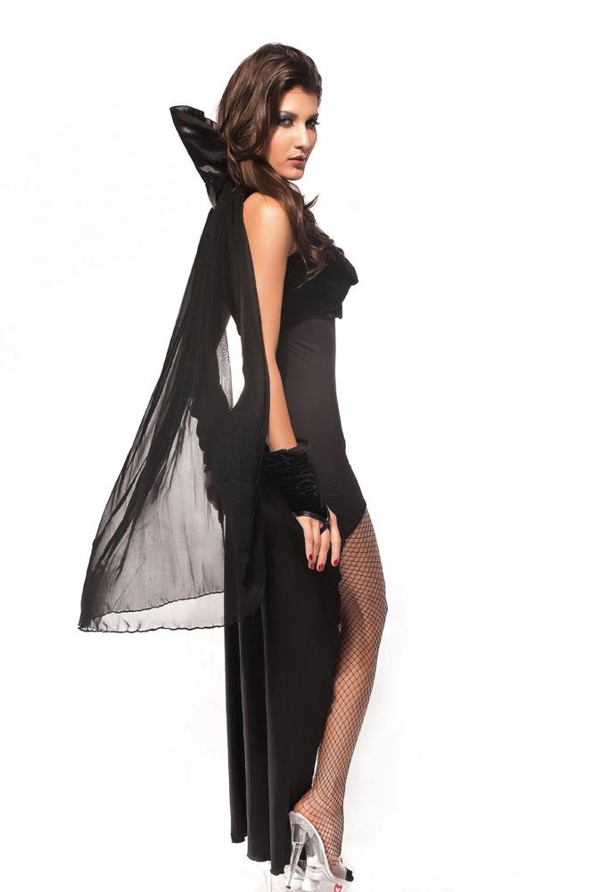 黑色吸血鬼舞台装演出服万圣节游戏制服多件套 LC8533