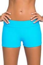 湖蓝色宽腰泳装短裤