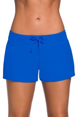 宝蓝色女式宽松泳裤