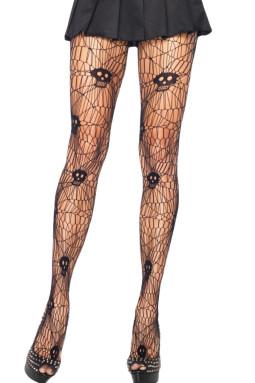 时尚万圣节骷髅头印花性感诱人连裤袜