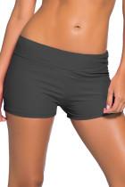 深灰色宽腰泳装短裤