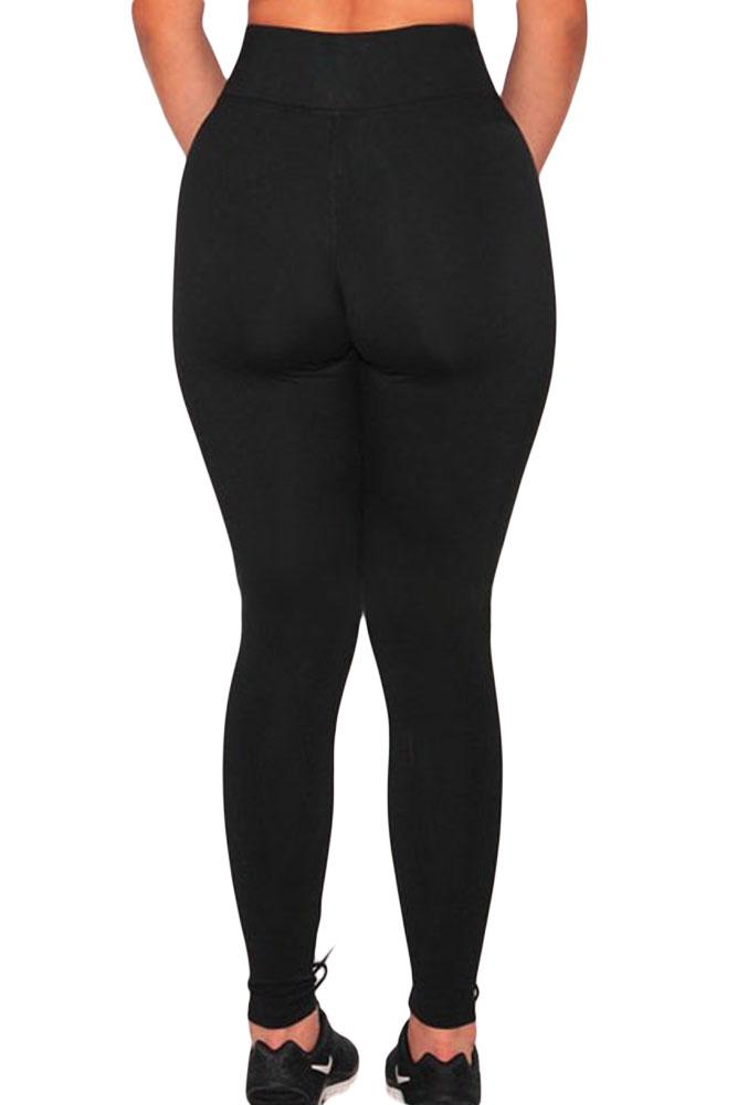 黑色健身房运动瑜伽裤网状拼接透气紧身裤 DL77001