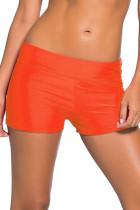 橙色宽腰泳装短裤