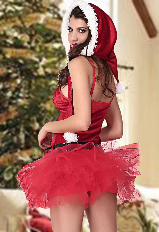 圣诞装无袖低胸性感游戏夜店演出制服 LC7235