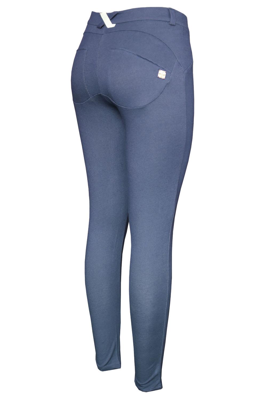塑形效果窄身牛仔灰牛仔式打底裤 LC79598