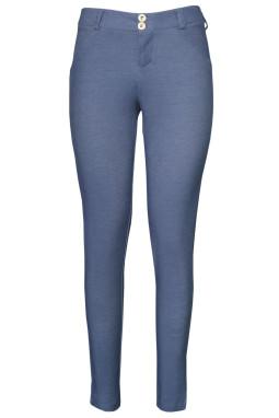 塑形效果窄身牛仔灰牛仔式打底裤