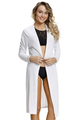 白色轻型针织开襟羊毛衫