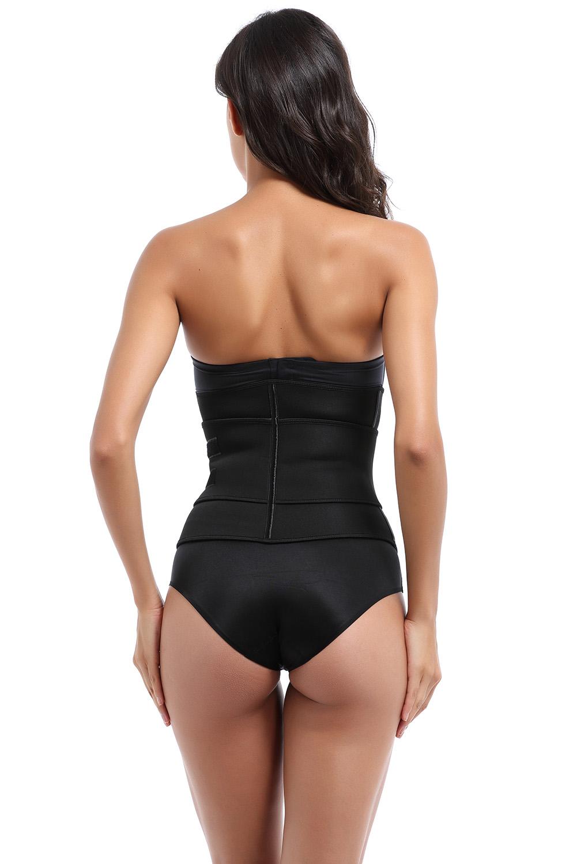 黑色氯丁橡胶锻炼腰身教练腰带塑身衣 LC50051