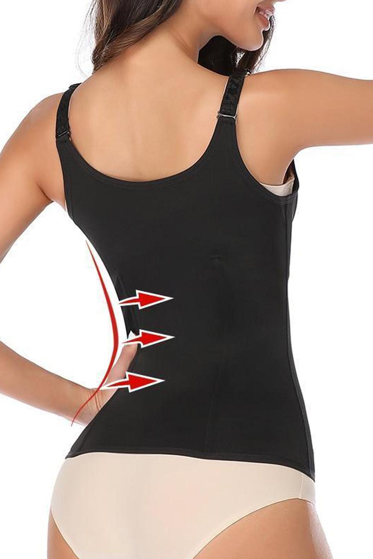 黑色肩带腰部训练6钢骨氯丁橡胶束身衣 LC51051