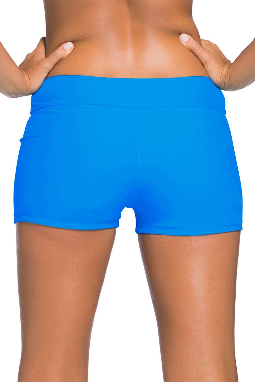 天蓝色宽腰泳装短裤 LC41946