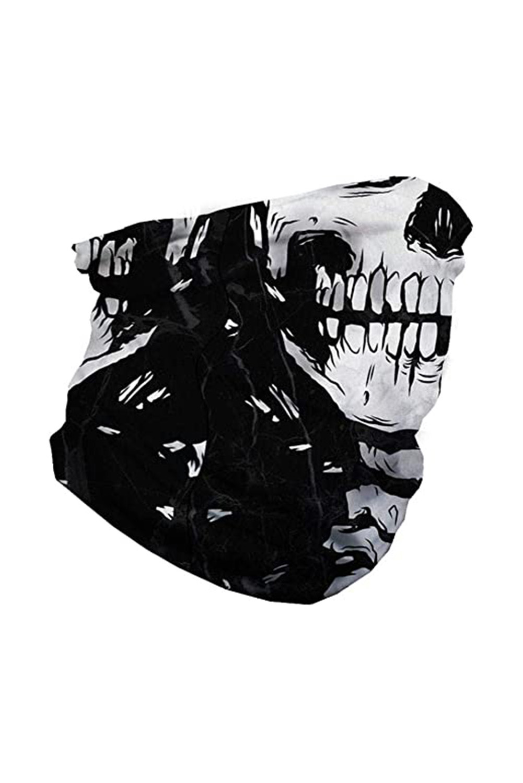头骨图案舒适透气多功能户外运动围脖头巾面罩 LC40568