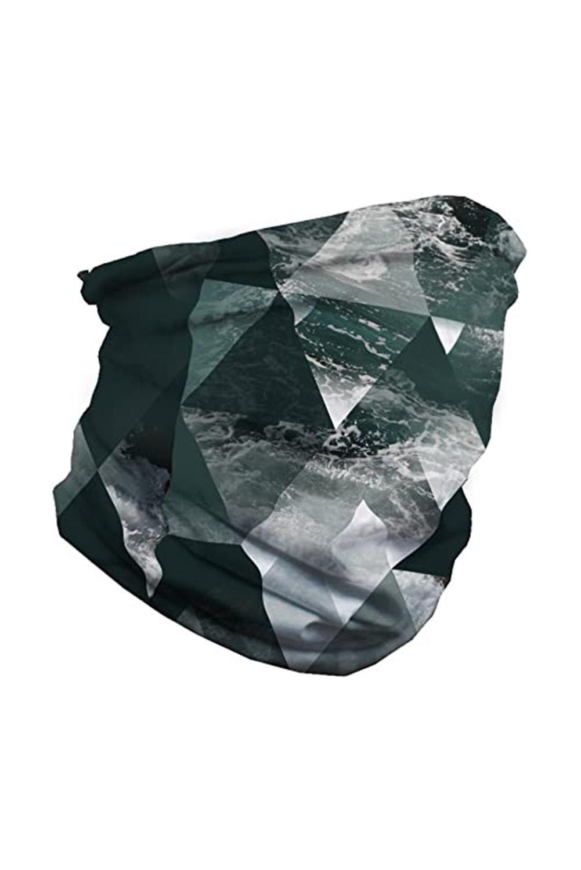 镜像图案舒适透气多功能户外运动围脖头巾面罩 LC40568