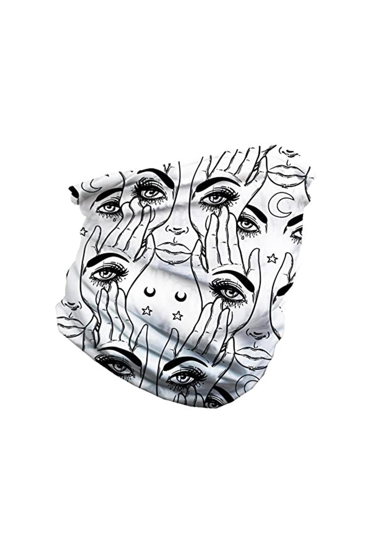 抽象眼睛图案舒适透气多功能户外运动围脖头巾面罩 LC40568