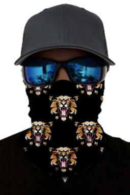 虎头印花户外运动保暖防晒防尘围脖面罩