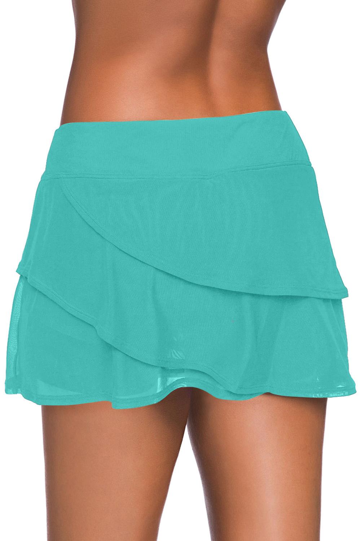 绿色时尚分层设计裤裙泳裙 LC412191