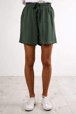 绿色宽松百搭休闲抽绳短裤