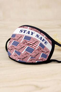 美国国旗字母可水洗非一次性透气舒适口罩