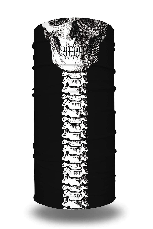 白骨骷髅印花可水洗男女通用头巾面罩围脖 LC04012