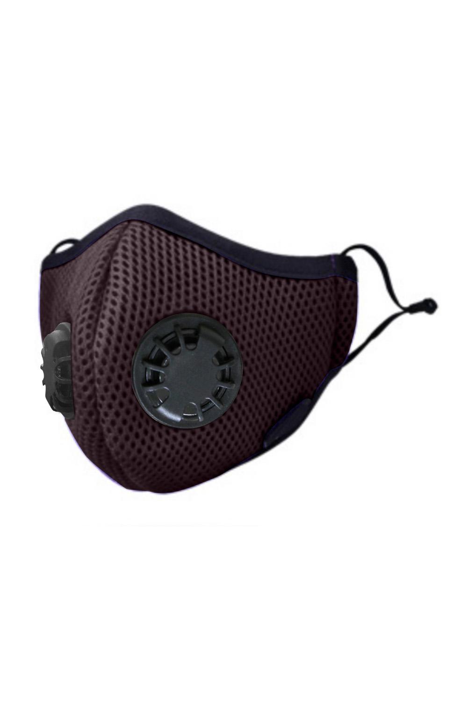 褐色日常防护双呼吸阀活性炭口罩 KZ1348