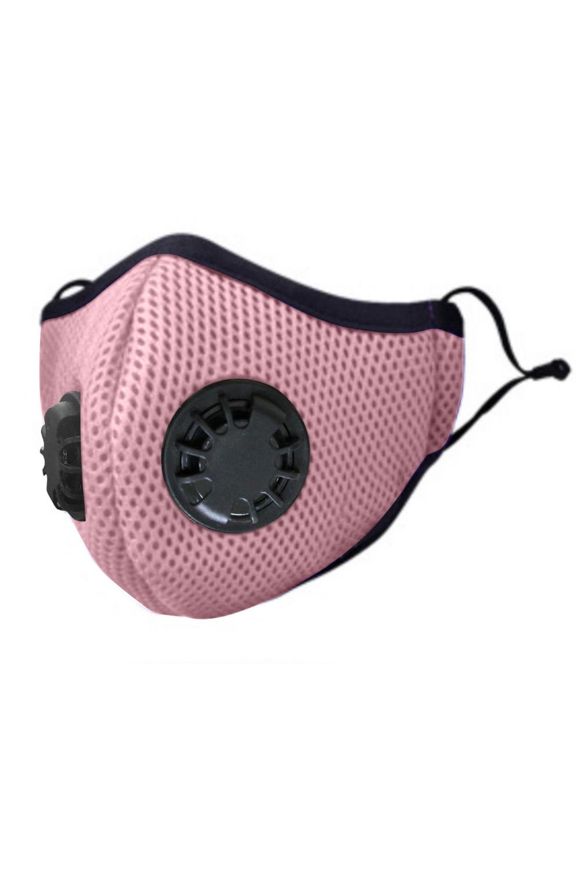 粉色日常防护双呼吸阀活性炭口罩 KZ1348