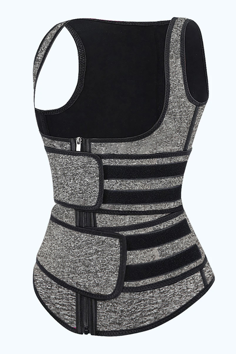 灰色氯丁橡胶塑腰拉链设计背心款塑身衣 LC51074