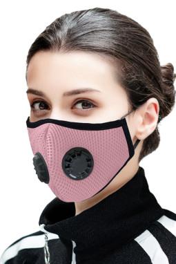 粉色日常防护双呼吸阀活性炭口罩