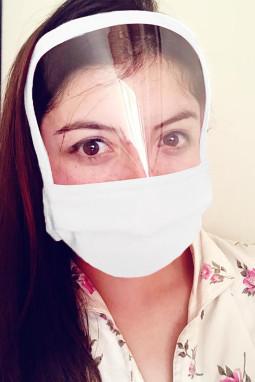 白色可重复使用可水洗全覆盖防护口罩