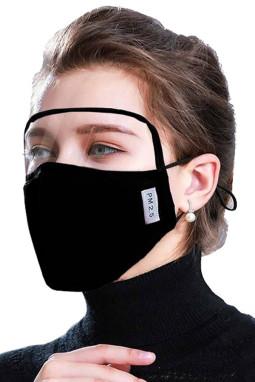 黑色防尘防风护眼户外面罩附带2个过滤垫片