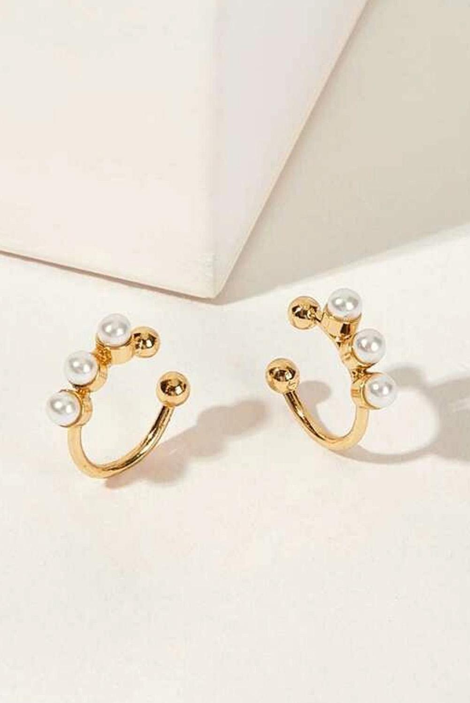 精美2个仿珍珠耳部装饰品 LC01053