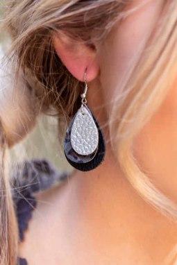 精致三层耳环
