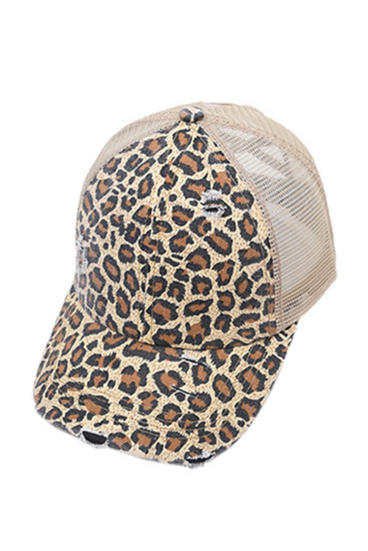 时尚豹纹印花透气舒适遮阳帽 LC02097