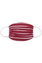 红色条纹印花日常防护可洗口罩