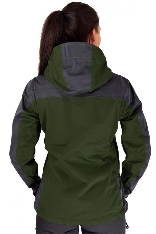 绿色防水拉链运动休闲冲锋衣连帽夹克 LC851158