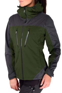绿色防水拉链运动休闲冲锋衣连帽夹克
