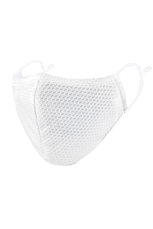 白色可调节挂耳透气网状口罩 KZ1346