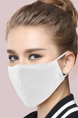 白色可调节挂耳透气网状口罩