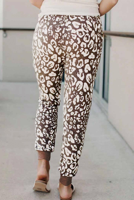 时尚豹纹舒适运动休闲裤 LC77582