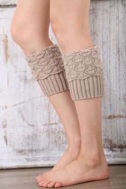 别致针织腿部保暖套袜