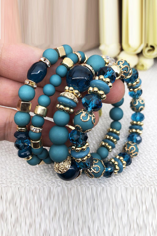 蓝色精美串珠仿珠宝时尚手链 LC01410