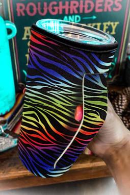 炫彩条纹印花杯套