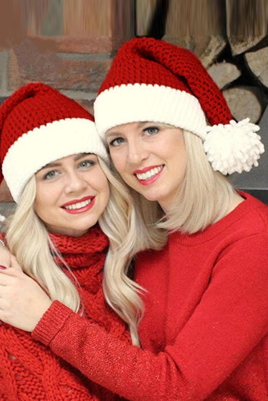 红色圣诞老人针织帽 LC02125