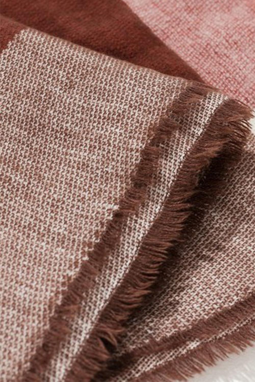 时尚格子针织毛毯围巾 LC04056