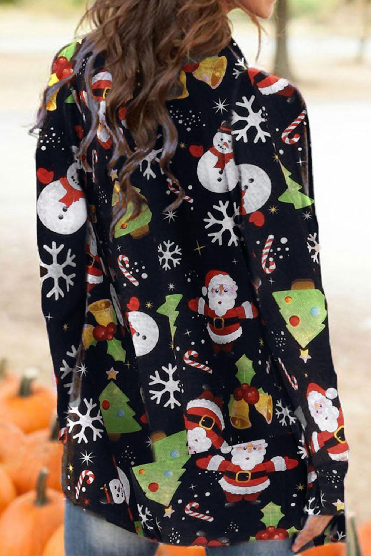 可爱卡通圣诞老人雪人宽松长袖女士开衫 LC254162