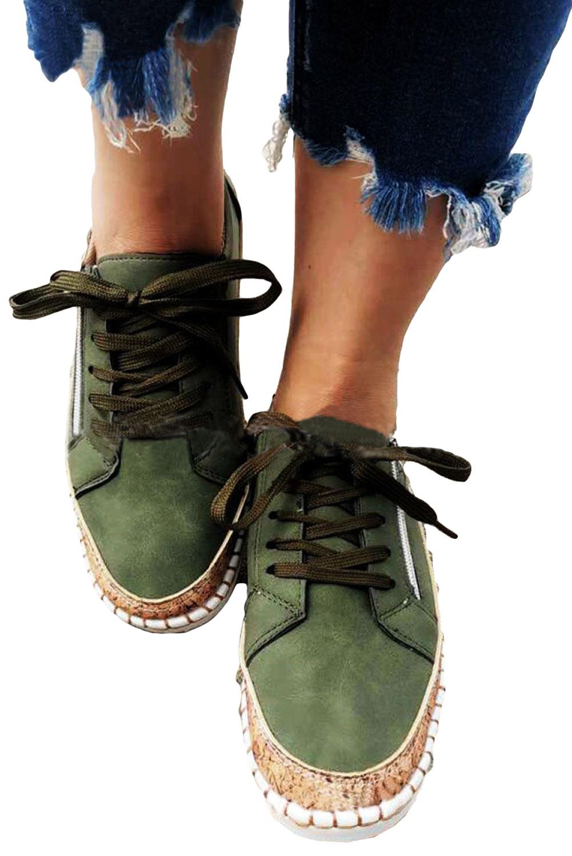 绿色平底休闲鞋 LC12147