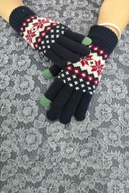 时髦可爱针织手套