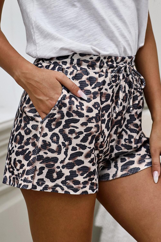时尚豹纹运动休闲短裤 LC77088