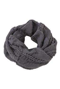 深灰色经典时尚针织围巾