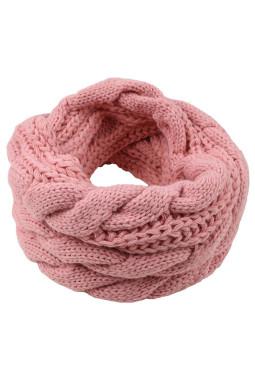 粉色经典时尚针织围巾