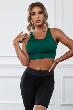 绿色瑜伽锻炼运动文胸
