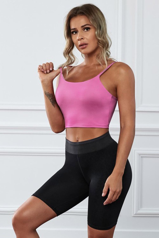 粉色透气弹力瑜伽文胸运动背心 LC264040